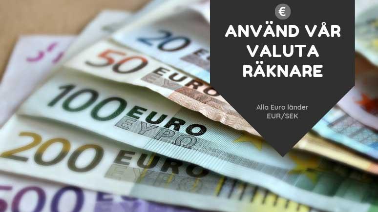 euro i kronor idag