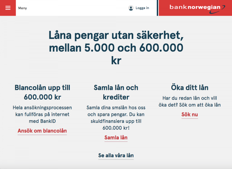 Bank Norwegian Privatlån