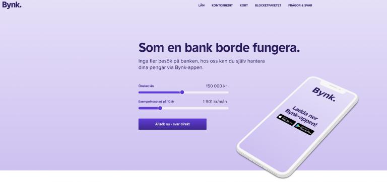 Banklån med Bynk, klicka på bilden!
